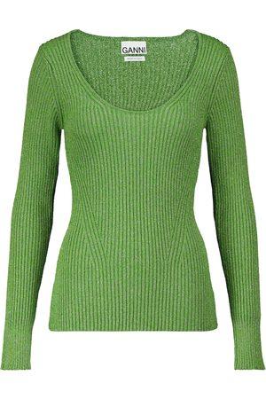 Ganni Dame Strikkegensere - Ribbed-knit sweater