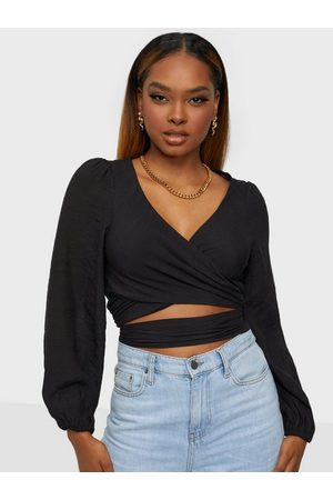 Love Triangle Dame Langermede - Long Sleeve Wrap Tie Front Top