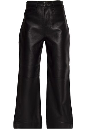 Proenza Schouler Leather trousers with logo