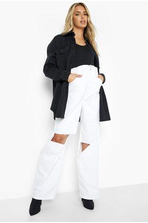 Boohoo Maternity Elasticated Waist Ripped Jeans