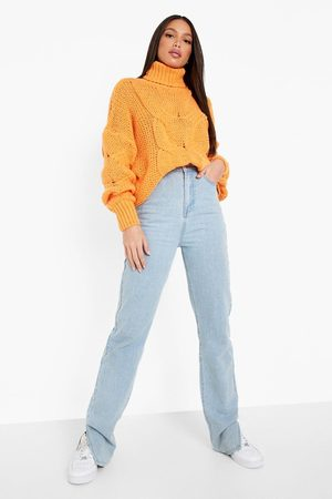 Boohoo Tall Roll Neck Large Cable Knit Jumper