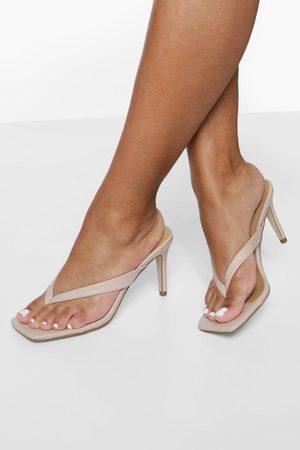 Boohoo Dame Flip flops - Toe Post Mules