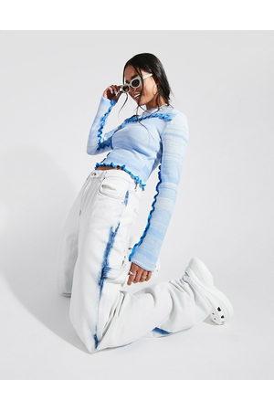 ASOS DESIGN Mid rise oversized 'skater' jean in tie dye-Multi