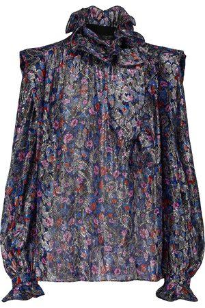 Isabel Marant Chandraya printed silk-blend blouse