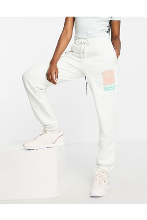 Crooked Tongues Co-ord jogger with spread love print in stone-Neutral