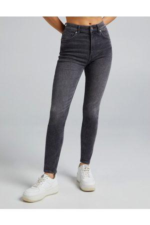 Bershka Dame High waist - High waist skinny jean in grey