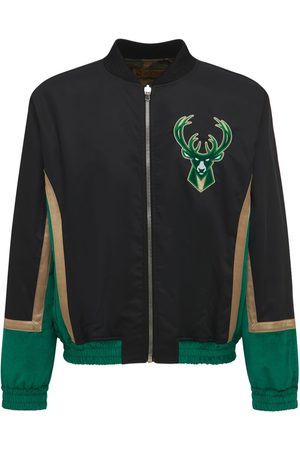 JUST DON Milwaukee Bucks Reversible Bomber Jacket