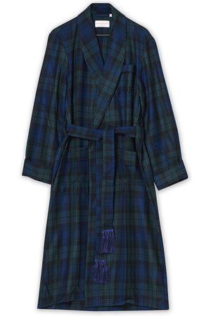 DEREK ROSE Herre Morgenkåper - Wool Tartan Dressing Gown Blackwatch
