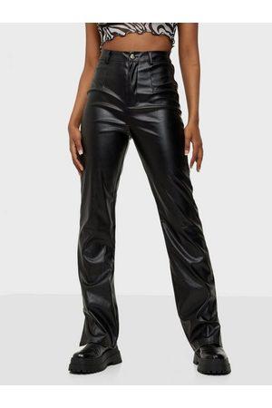 Missguided Side Split Faux Leather Trouser
