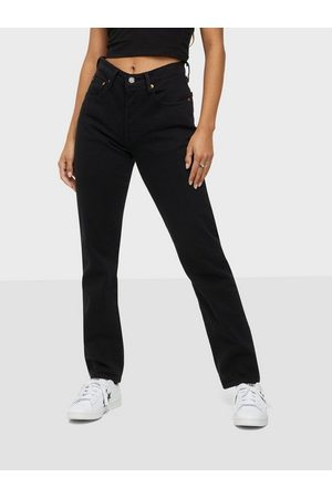Levi's Dame Straight - 501 Crop Black Sprout