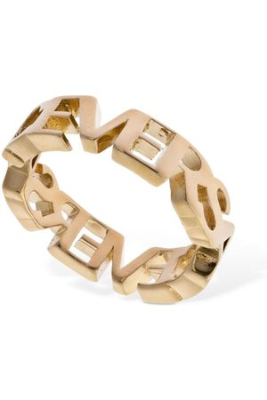 VERSACE Logo Lettering Thick Ring