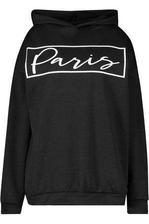 Boohoo Plus Paris Slogan Oversized Hoody