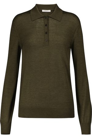 The Row Darese cashmere and silk polo sweater