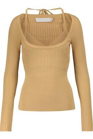 JONATHAN SIMKHAI Jayline layered ribbed-knit top