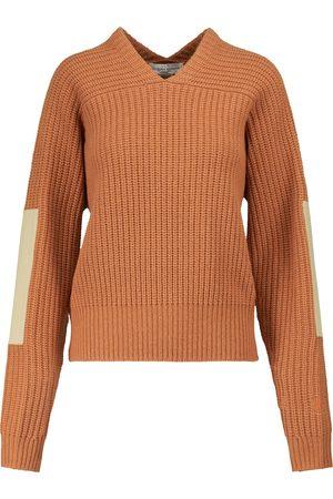 Victoria Beckham Dame Strikkegensere - V-neck wool sweater