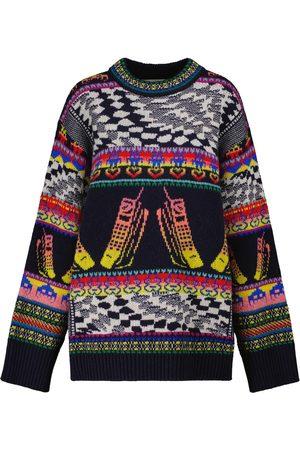 Stella McCartney Intarsia virgin wool-blend sweater