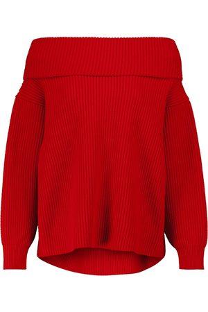 Alaïa Off-shoulder wool and cashmere sweater