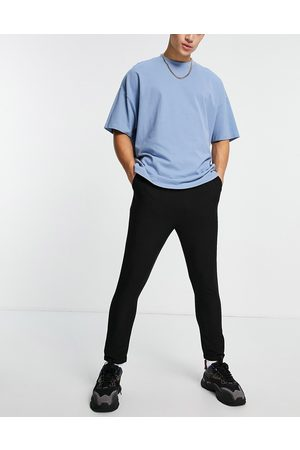 Sixth June Skinny trousers in black with belt detail