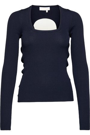 REMAIN Birger Christensen Serena Knit Top T-shirts & Tops Knitted T-shirts/tops Blå