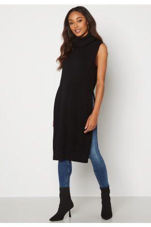 VILA Ril Long S/L Knit Vest Black XS