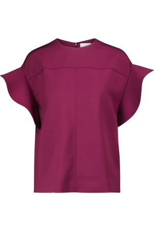 Victoria Victoria Beckham Flounce-sleeved top