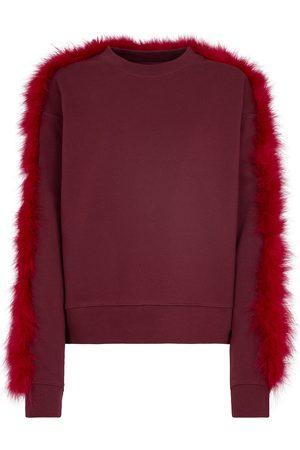 DRIES VAN NOTEN Feather-trimmed cotton sweatshirt