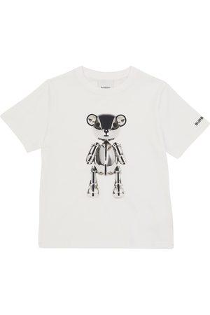 Burberry Gutt Kortermede - Printed cotton T-shirt