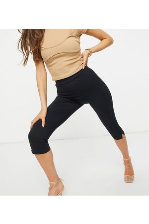 AsYou Super high waisted capri trouser in black
