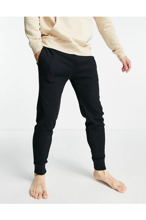 Polo Ralph Lauren Waffle jogger with gold pony logo in black