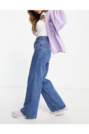 Cotton:On Dame Wide Leg - Wide leg jeans in midwash blue