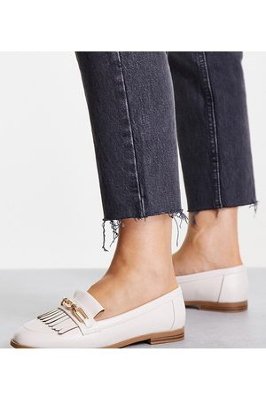 Schuh Dame Loafers - Lillianna kiltie flat shoes in off white