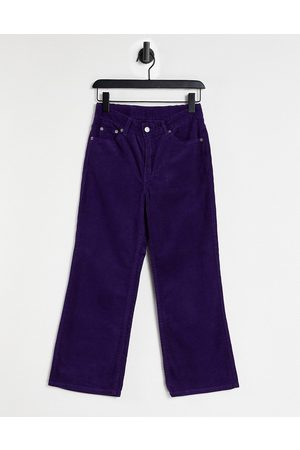 Dr Denim Dame Jeans - Cadell cropped loose fit jeans in purple