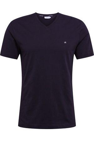 Calvin Klein Skjorte 'LOGO EMBROIDERY V-NECK T-SHIRT