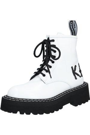Karl Lagerfeld Ankelstøvlett med snøring 'Patrol II Brush Logo Hi Lace