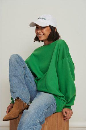 NA-KD Dame Sweatshirts - Økologisk oversized børstet genser