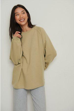 NA-KD Dame Sweatshirts - Økologisk Lang Basic-genser