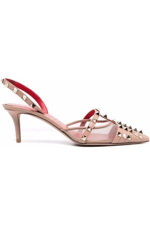 Valentino Garavani Dame Pumps - Rockstud-embellished pointed-toe pumps