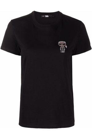 Karl Lagerfeld Dame Kortermede - K/Ikonic organic cotton T-shirt