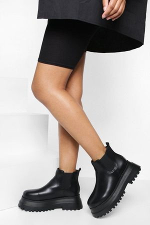 Boohoo Dame Skoletter - Wide Fit Extreme Chunky Chelsea Ankle Boot
