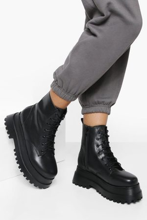 Boohoo Dame Skoletter - Wide Fit Extreme Chunky Ankle Hiker Boot