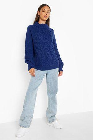 Boohoo Dame Strikkegensere - Chunky Cable Knit Jumper