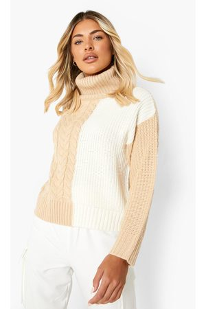 Boohoo Mixed Stitch Cable Knit Jumper