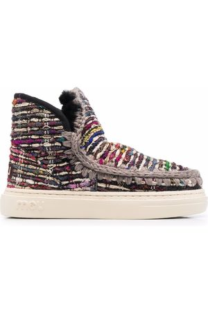 Mou Woven ankle boots