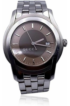 Gucci Vintage Pre-owned Stainless Steel Mod 5500 XL Wrist Watch Bicolor Dial