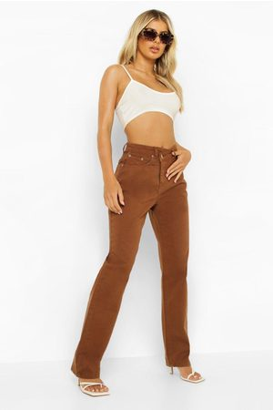 Boohoo Dame Straight - Asymmetric Fastening Straight Leg Jeans