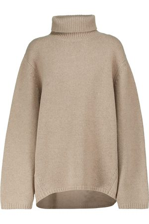 Totême Dame Pologensere - Turtleneck wool and cashmere sweater