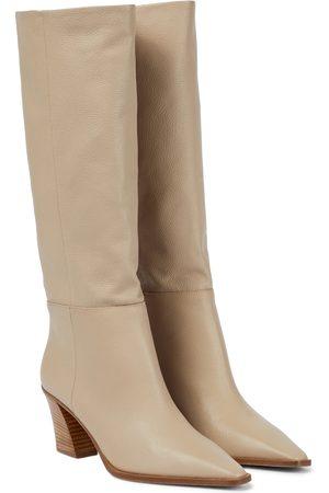 Aquazzura Matisse 70 leather knee-high boots