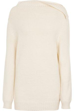 ANN DEMEULEMEESTER Dame Strikkegensere - Bel cowl-neck sweater
