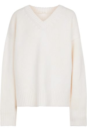 The Row Dame Strikkegensere - Davion wool and cashmere sweater