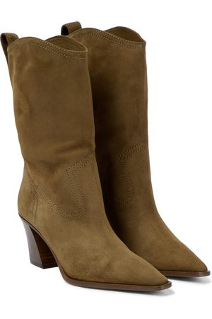 Aquazzura Dolly 70 suede ankle boots